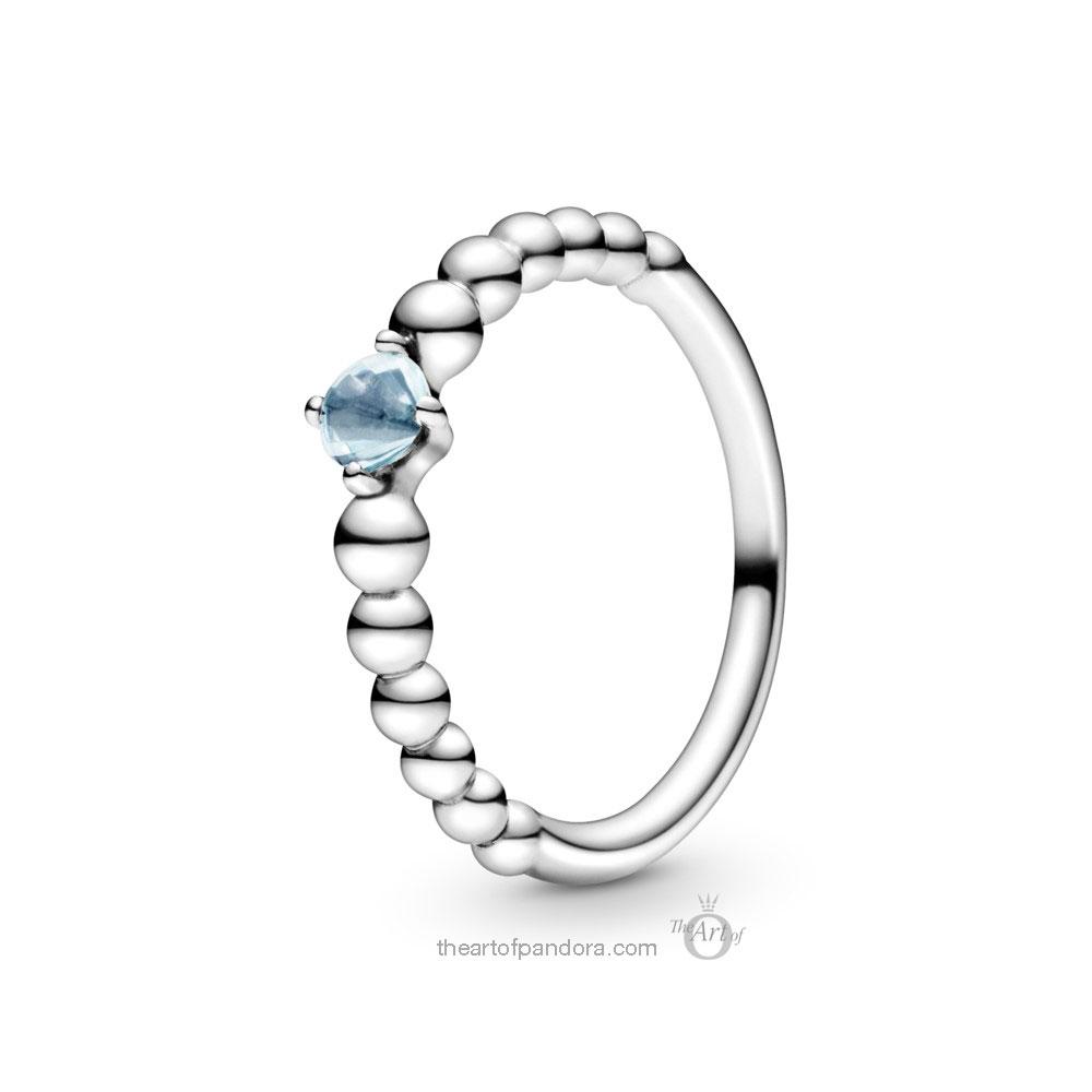 198598C01 Pandora March Birthstone Ring Pandora 2020 pre valentines day collection