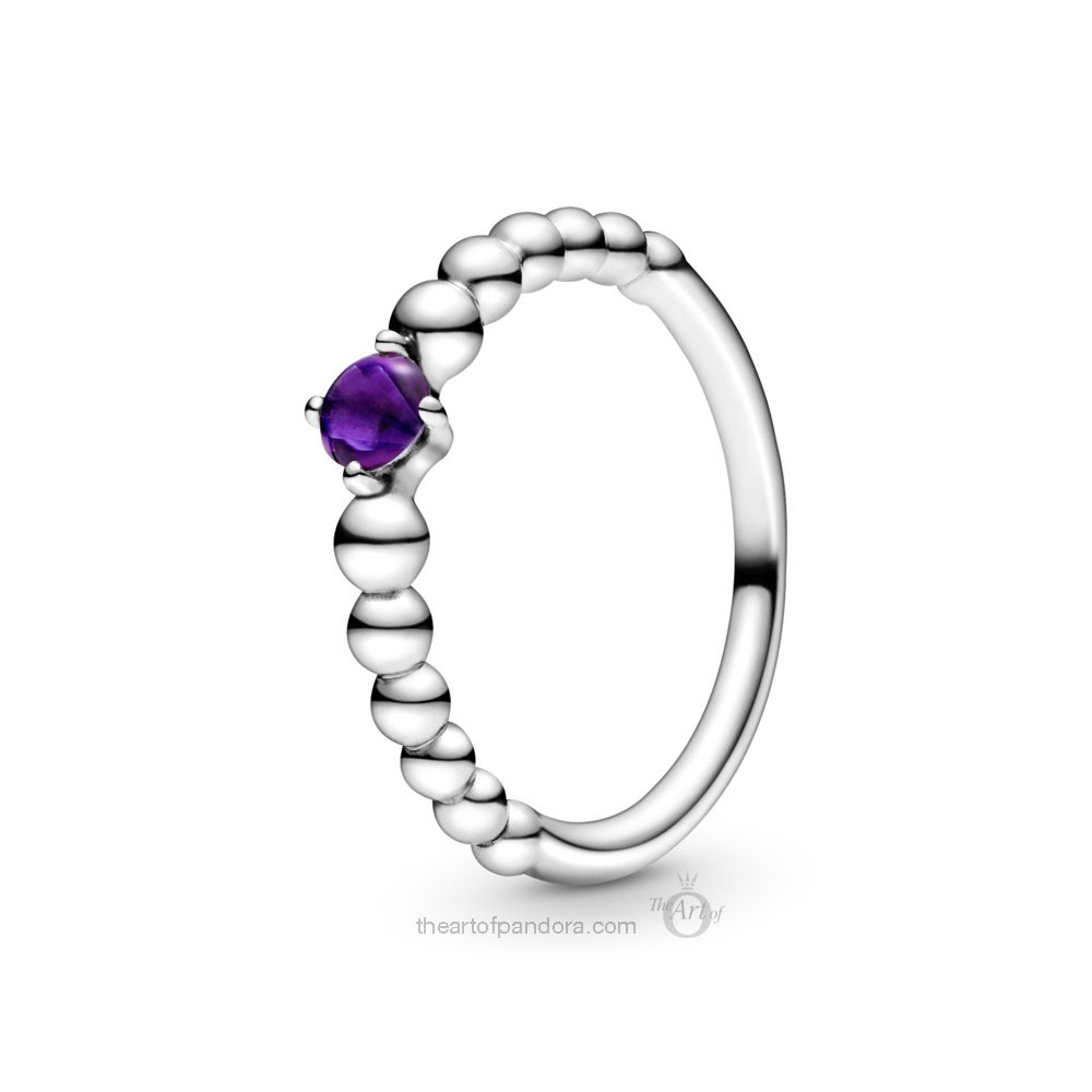 198598C03 Pandora February Birthstone Ring Pandora 2020 pre valentines day collection