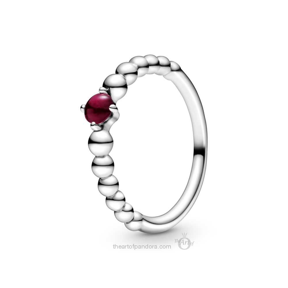Pandora July Birthstone Ring (198598C08) Pandora 2020 pre valentines day collection