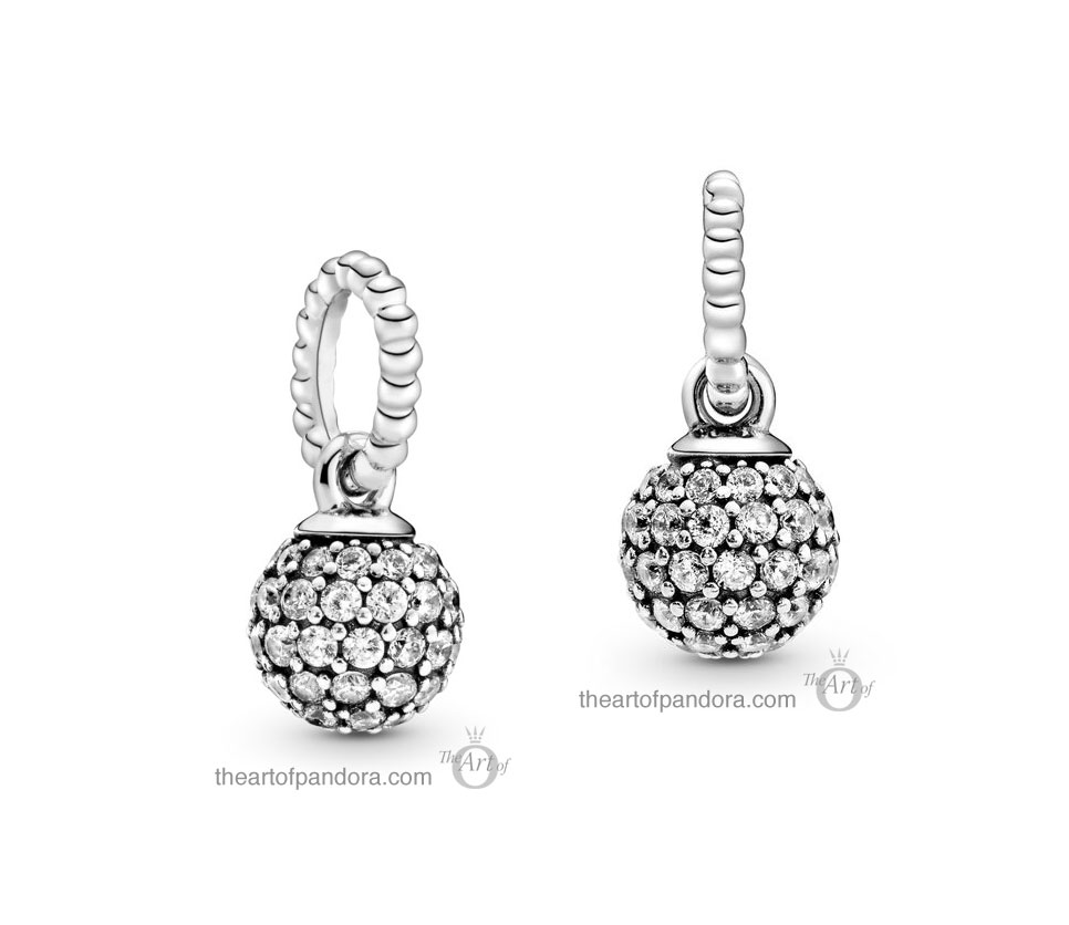 Pandora Pavé Ball Pendant Charm (398690C01) Pandora Valentines Day Chinese New Year 2020 Collection