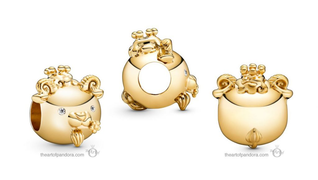 Pandora Shining Goat Charm (768583C01) Pandora Valentines Day Chinese New Year 2020 Collection