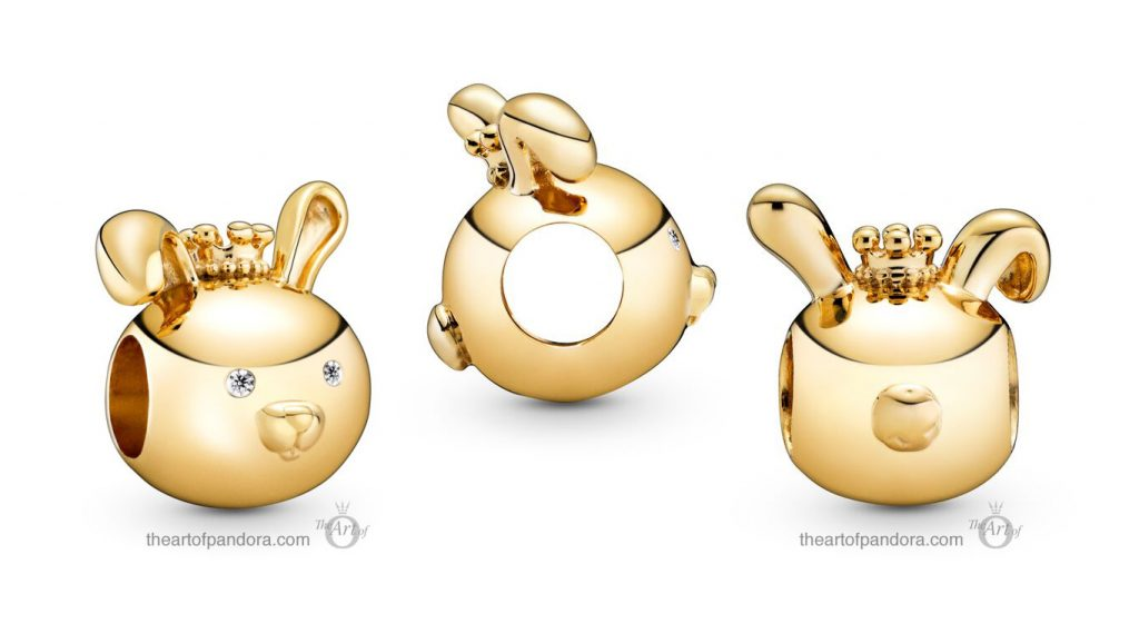 Pandora Shining Rabbit Charm (768585C01) Pandora Valentines Day Chinese New Year 2020 Collection