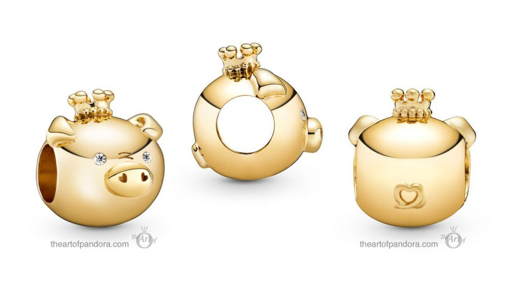 Pandora Shining Pig Charm (768591C01) Pandora Valentines Day Chinese New Year 2020 Collection