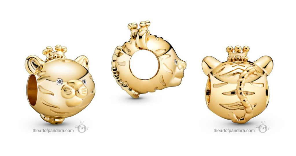 Pandora Shining Tiger Charm (768594C01) Pandora Valentines Day Chinese New Year 2020 Collection