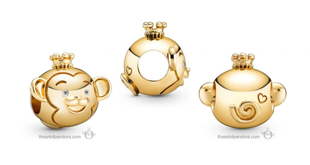Pandora Shining Monkey Charm (768597C01) Pandora Valentines Day Chinese New Year 2020 Collection
