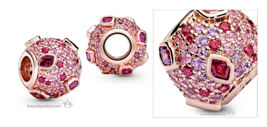 Pandora Rose Kiss Pavé Charm (788702C01) Pandora Valentines Day Chinese New Year 2020 Collection