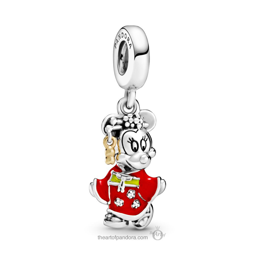Pandora Disney Chinese New Year  Minnie Mouse Dangle Charm (798138ENMX) Pandora Disney Valentine's Day & Chinese New Year 2020 Collection