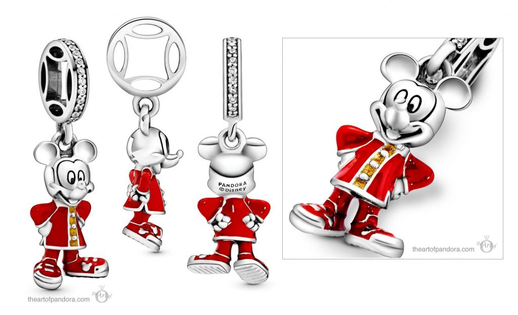 Pandora Disney Mickey Mouse Dangle Charm (798635C01) Pandora Disney Valentine's Day & Chinese New Year 2020 Collection Baby Yoda