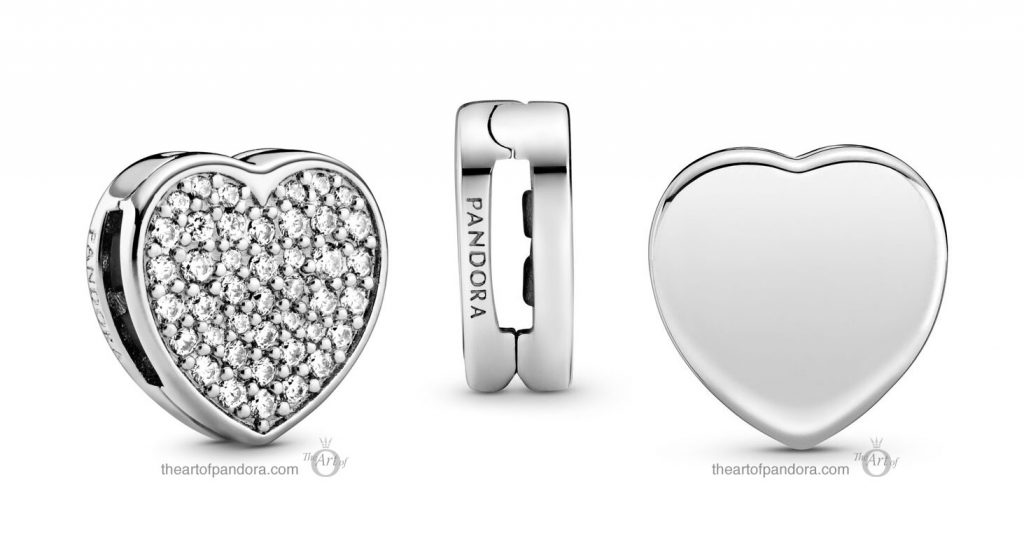 Pandora Reflexions Pavé Heart Clip (798684C01) Pandora Valentines Day Chinese New Year 2020 Collection
