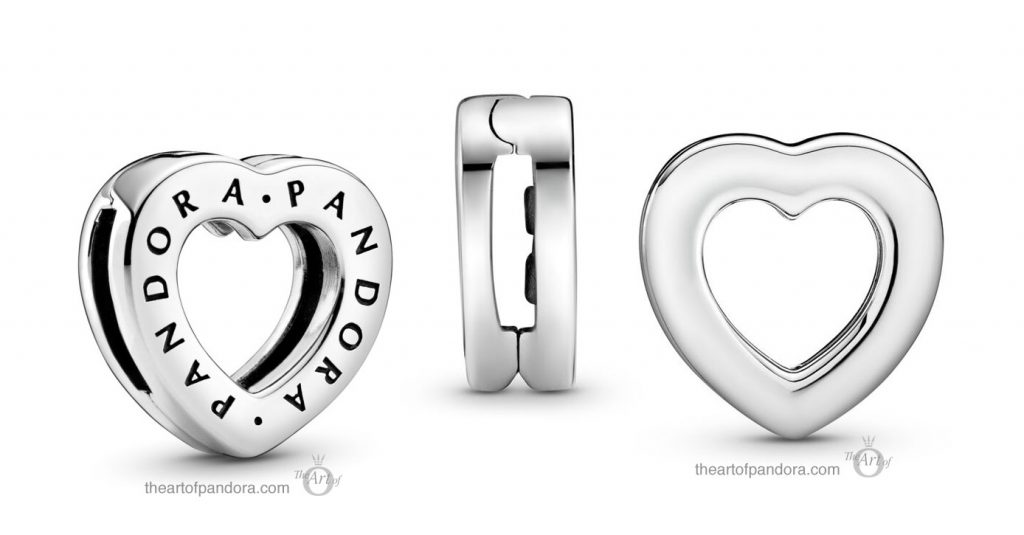 Pandora Reflexions Logo Heart Clip Charm (798741C00) Pandora Valentines Day Chinese New Year 2020 Collection