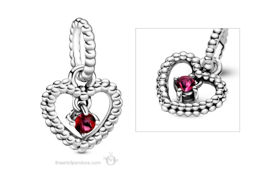 798854C02 January Birthstone Pendant Charm  Pandora 2020 pre valentines day collection