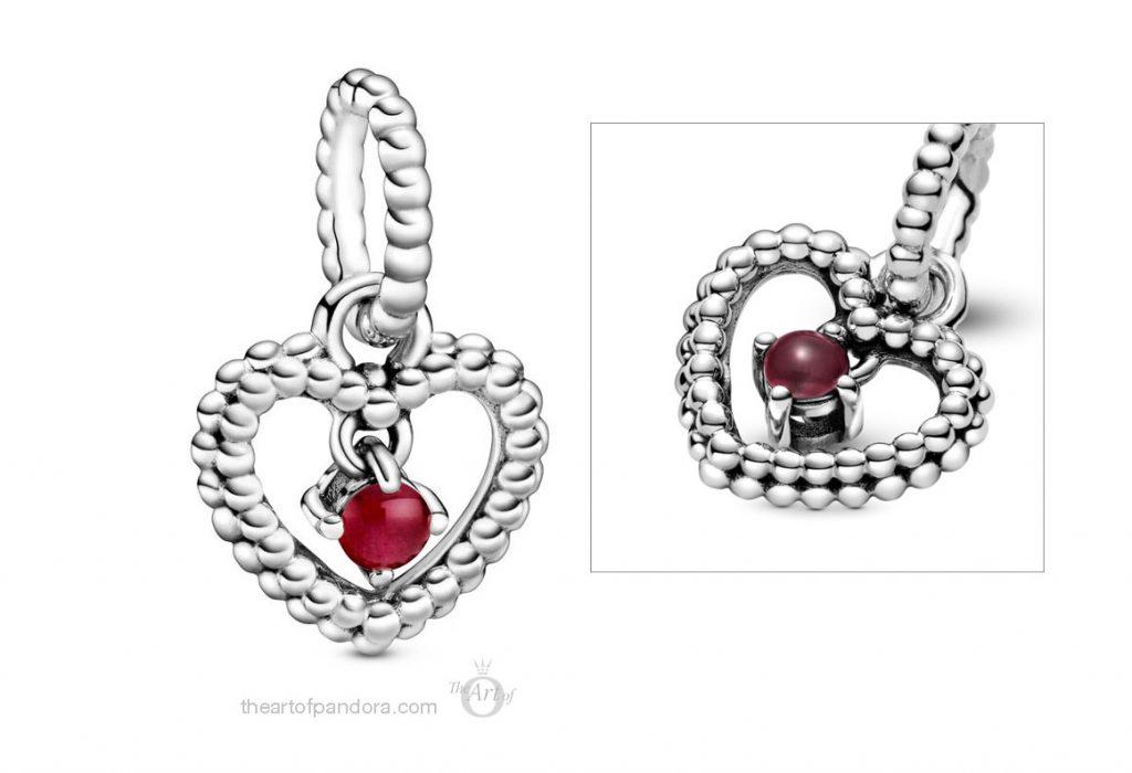 Pandora July Birthstone Pendant Charm (798854C08) Pandora 2020 pre valentines day collection