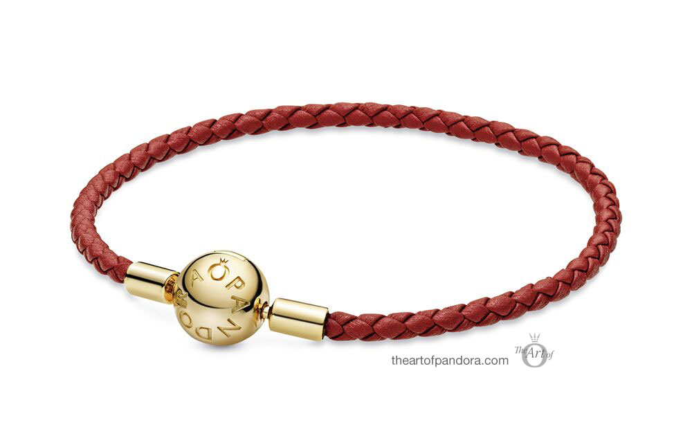Pandora Shine Red Single Leather Bracelet  (568777C01-S)