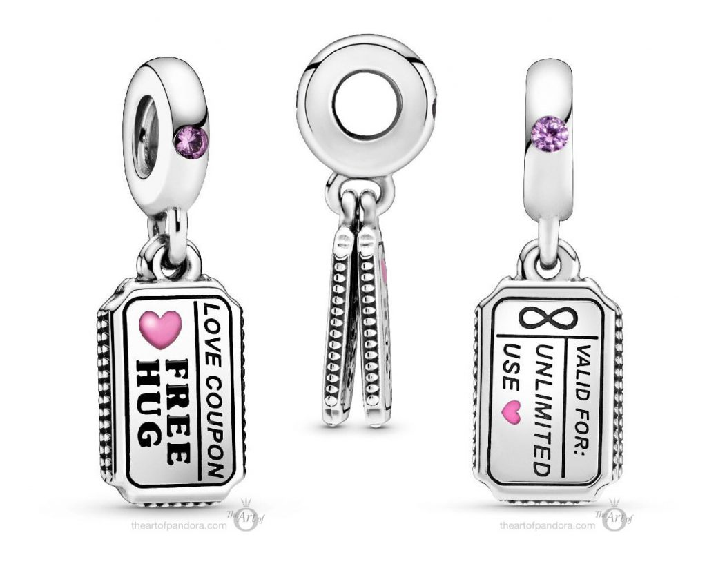 Pandora Love Coupon Dangle Charm (798703C01) Pandora Valentines Day Chinese New Year 2020 Collection