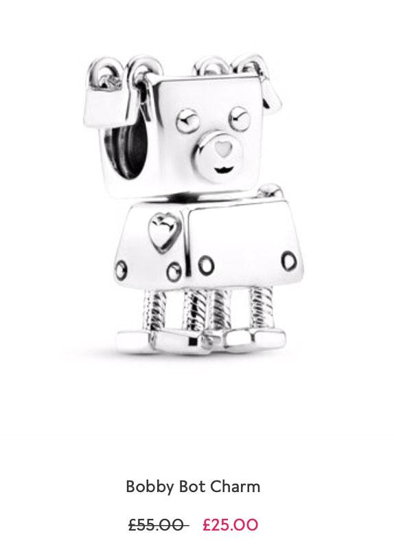 Bobby Bot Charm pandora sale