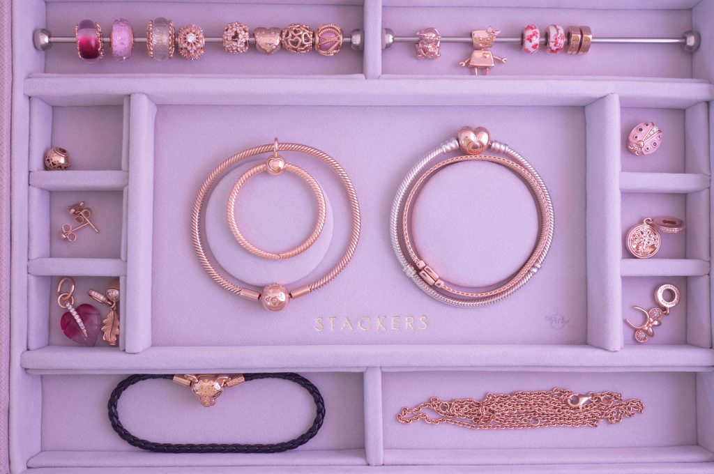 Stackers Blush Classic 2 Charm Bracelet Layer Pandora 14k gold pandora shine pandora 2020 new collection blog blogger mothers day spring gift idea