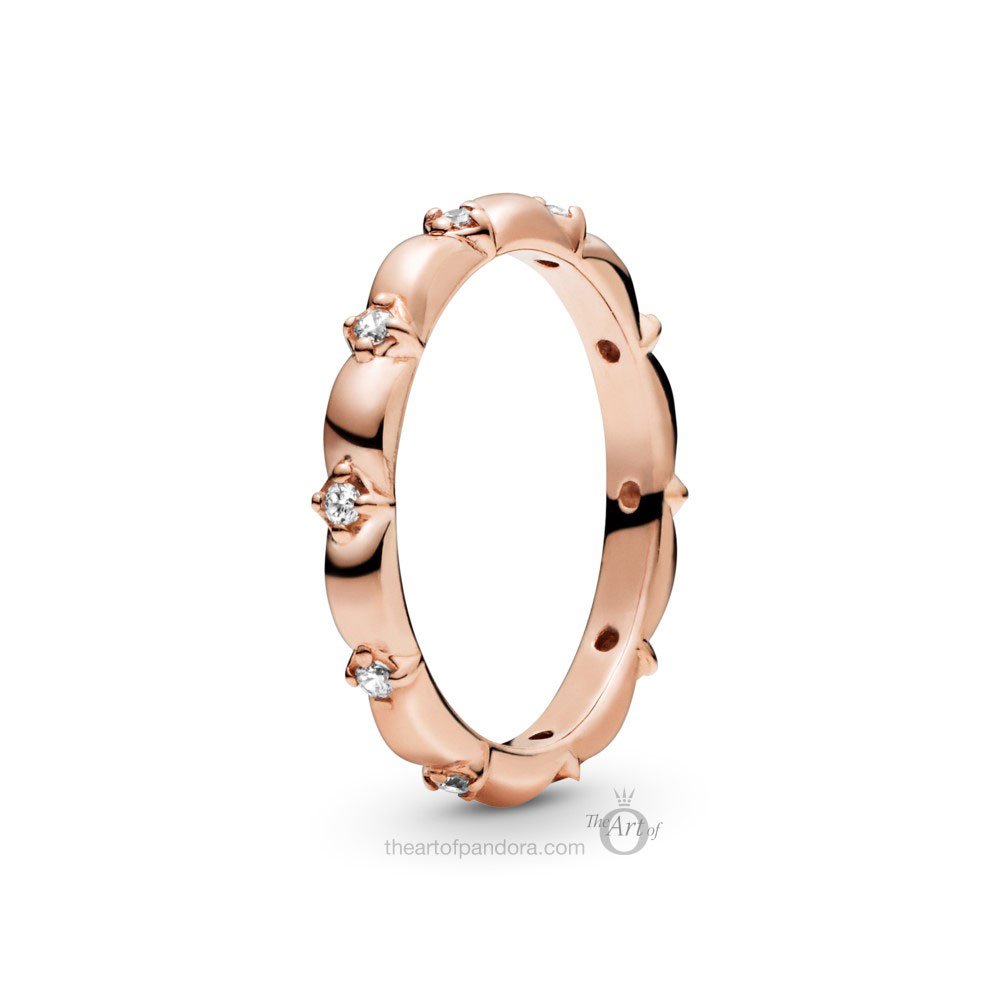 188791C01 Pandora Rose Flower Petals Band Ring
