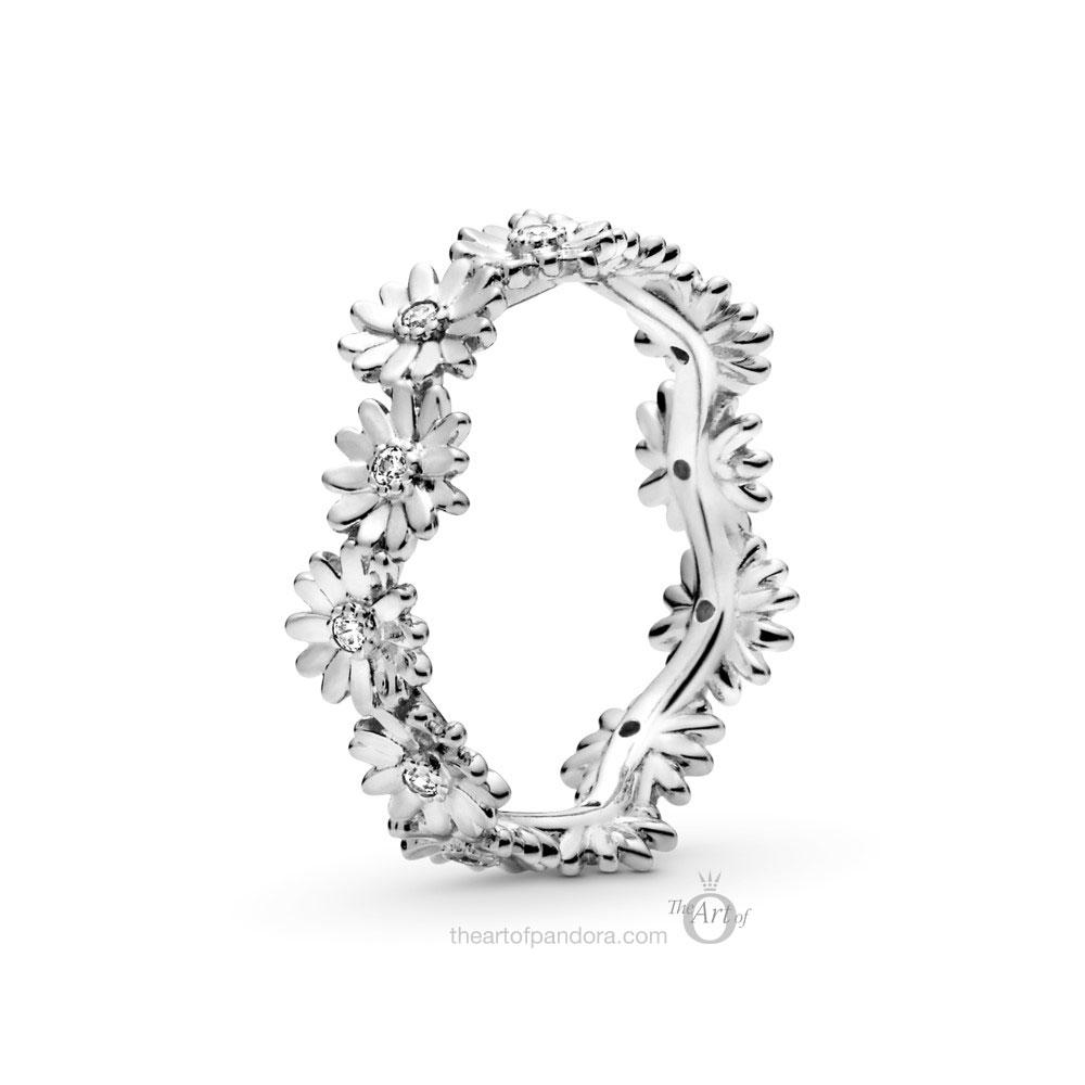198799C01 Pandora Sparkling Daisy Flower Crown Ring
