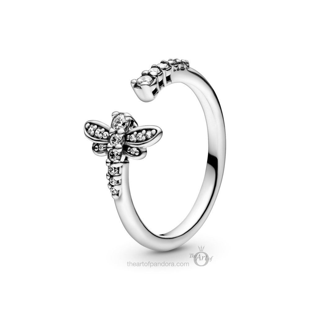 198806C01 Pandora Sparkling Dragonfly Open Ring