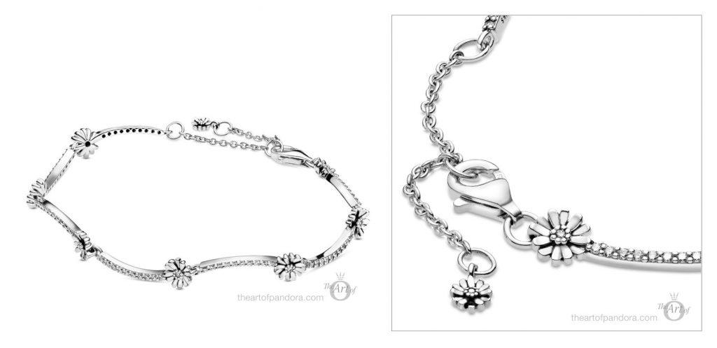 598807C01 Pandora Sparkling Daisy Flower Bracelet