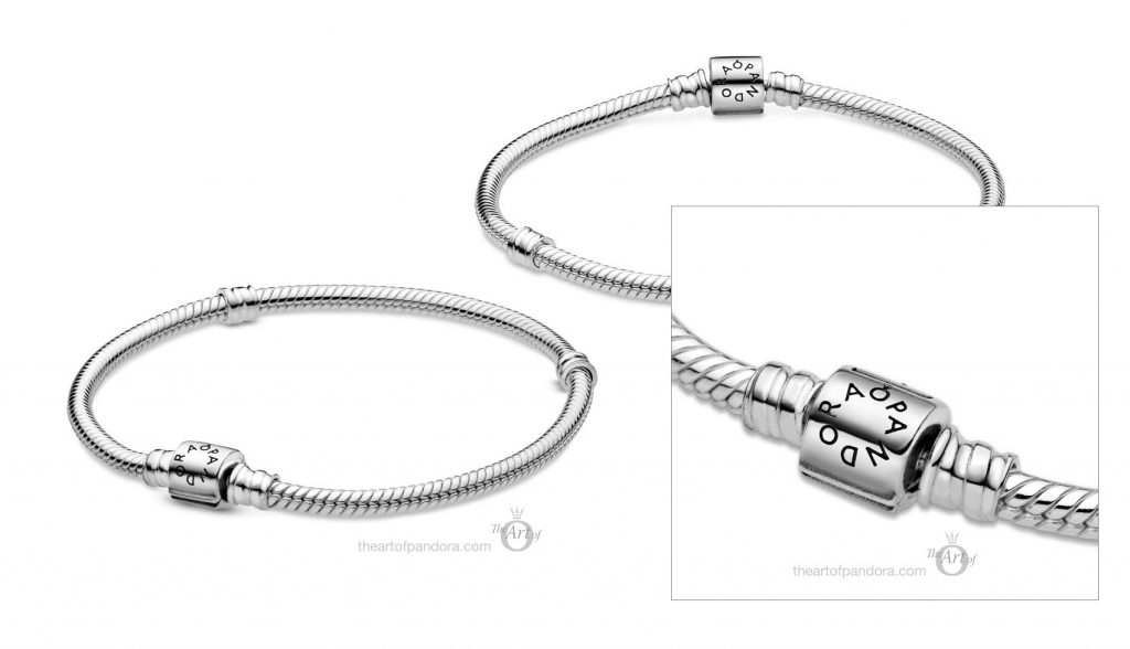 598816C00 Pandora Moments Barrel Clasp Snake Chain Bracelet