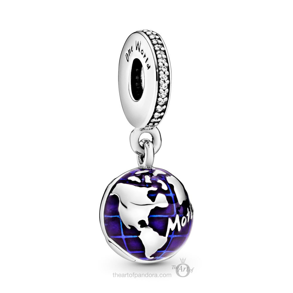 798774C01 Pandora One World Dangle Charm
