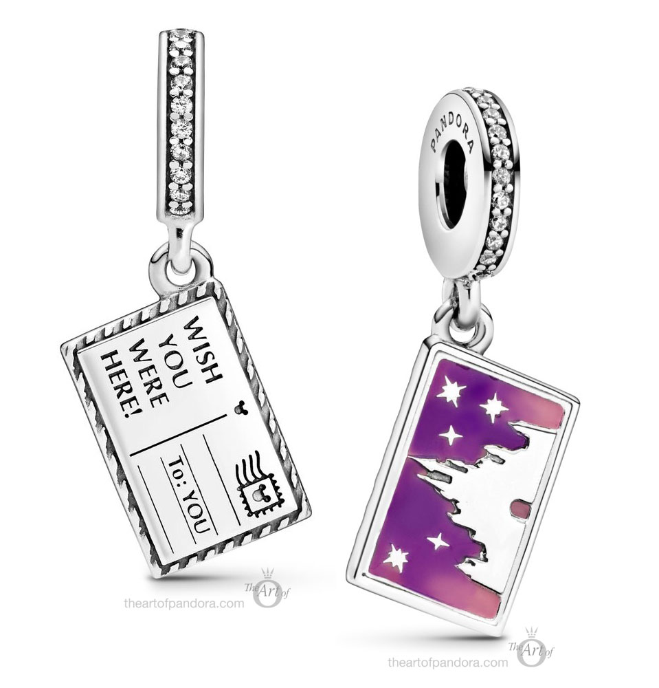 798783C01 Pandora Disney Parks Postcard Dangle Charm