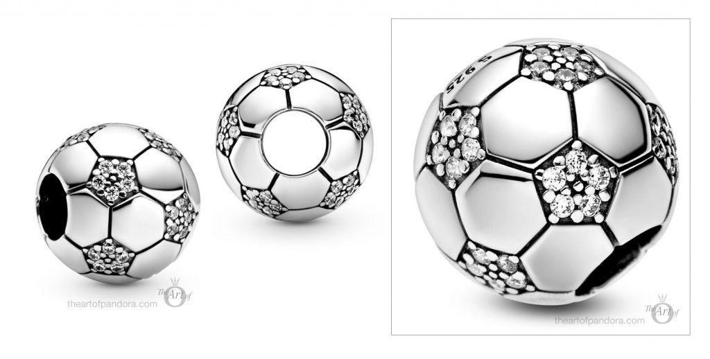798795C01 Pandora Sparkling Football Charm