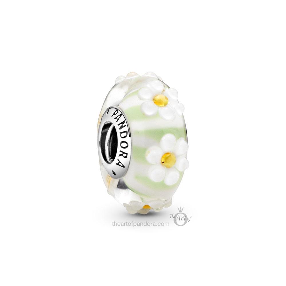 798798C00 Pandora Daisy Glass Murano Charm