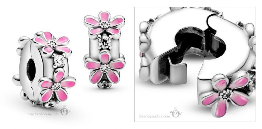 798809C01 Pandora Pink Daisy Flower Clip