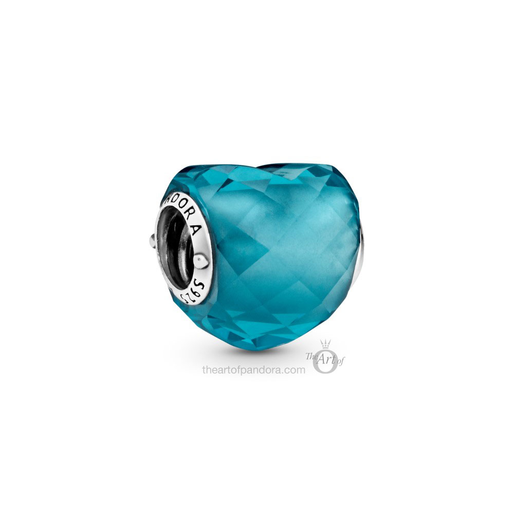 Pandora Teal Shape of Love Heart Charm  (798811C01)