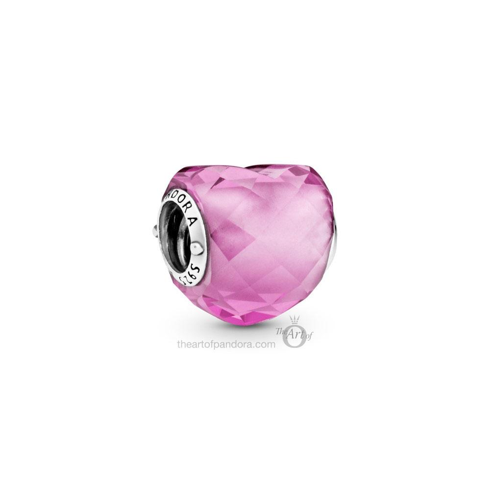 Pandora Pink Shape of Love Heart Charm  (798811C01)