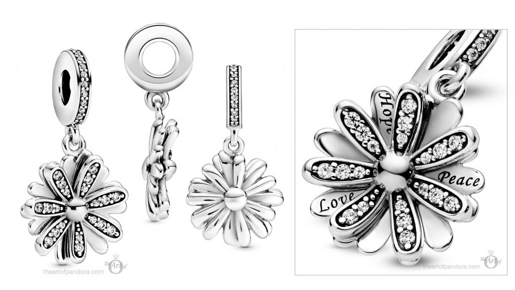 798813C01 Pandora Sparkling Daisy Flower Dangle Charm