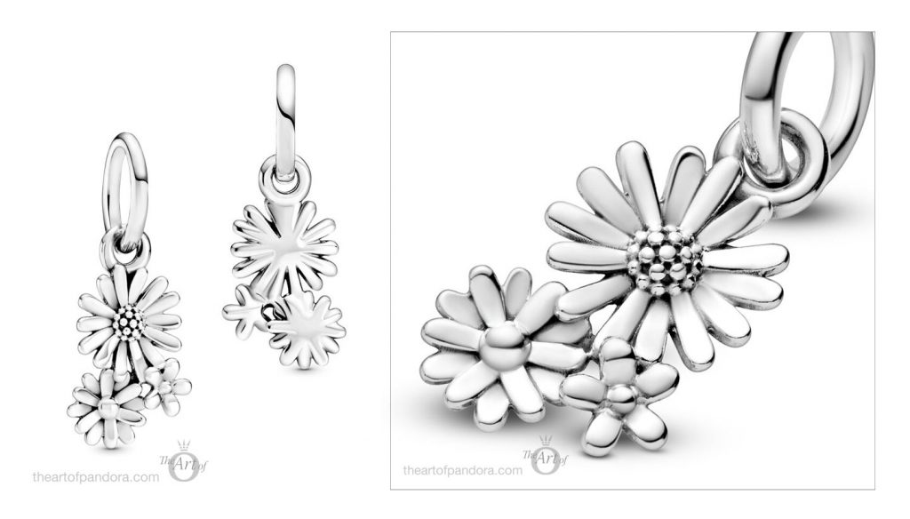 798819C00 Pandora Daisy Flower Bouquet Dangle Charm