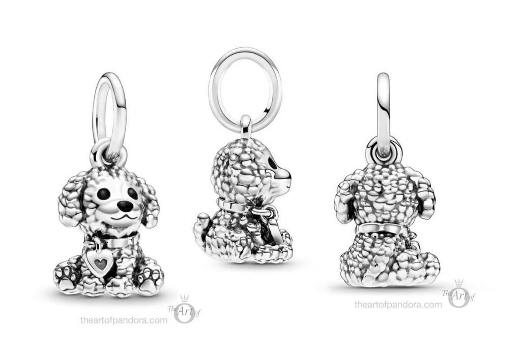 798871C01 Pandora Poodle Puppy Dog Dangle Charm