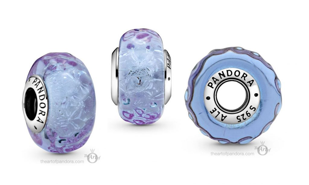 798875C00 Pandora Wavy Lavender Murano Glass Charm
