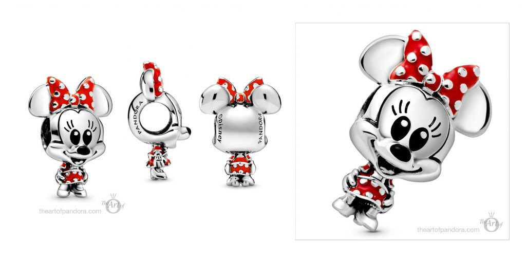 Pandora Disney Minnie Mouse Dotted Dress Bow Charm 798880C02 Disney x Pandora Babies Collection pandora mothers day new collection Disney babies baby 2020 blog blogger