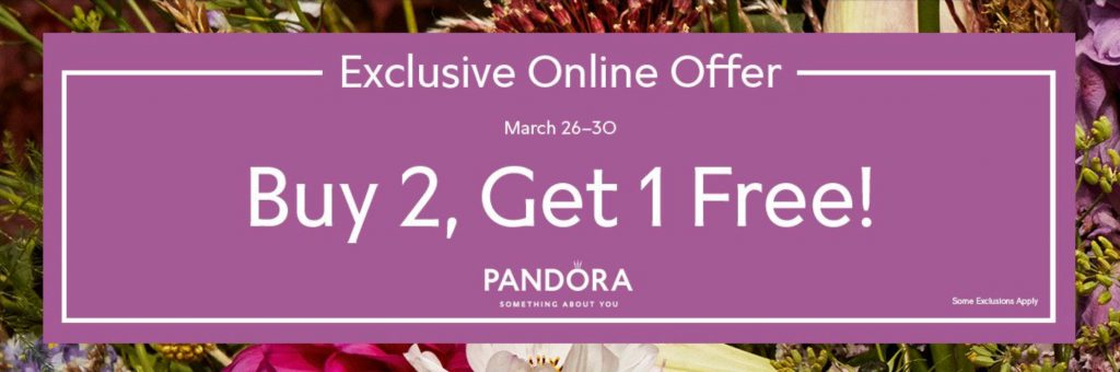 pandora buy 2 get 1 free