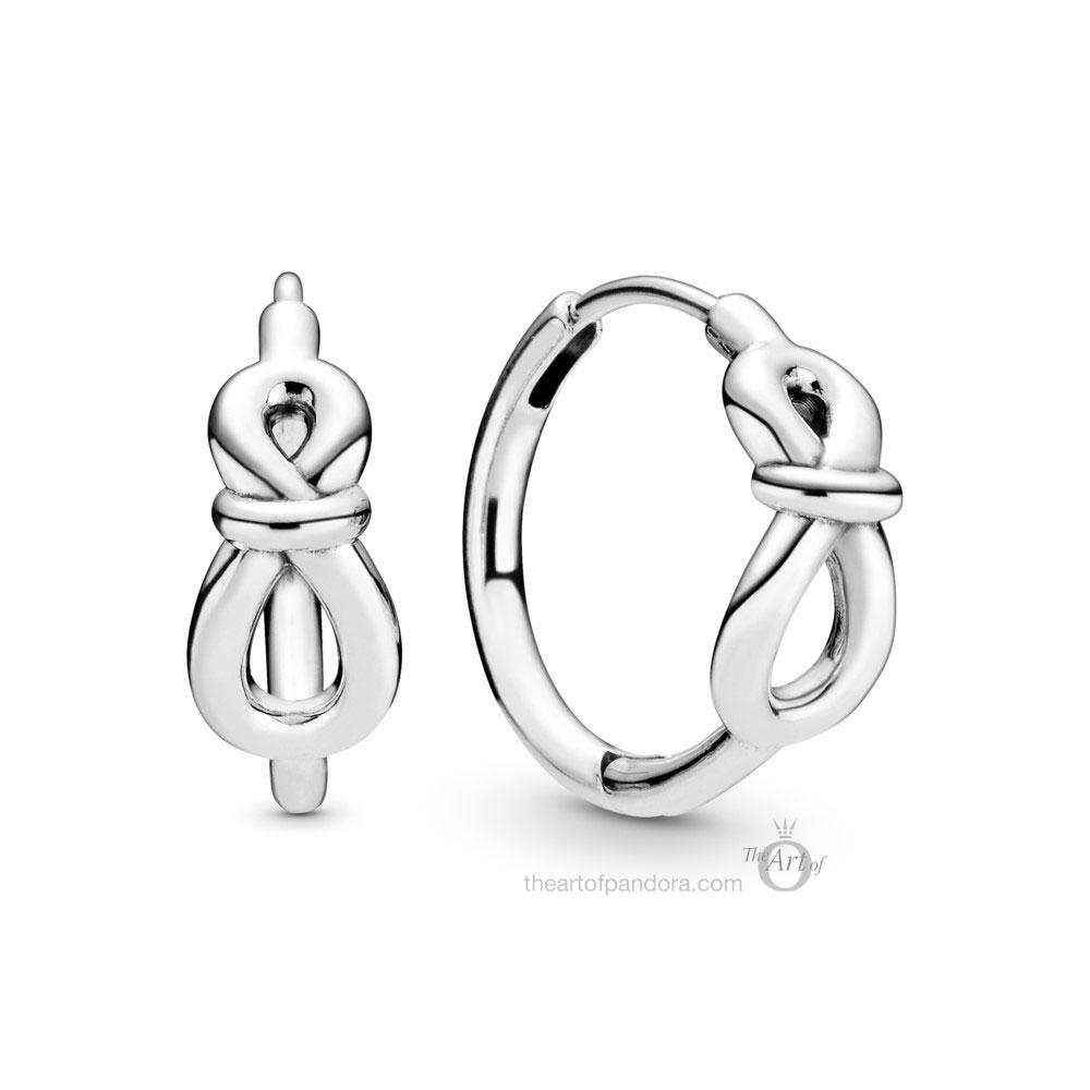 298889C00 Pandora Infinity Knot Hoop Earrings