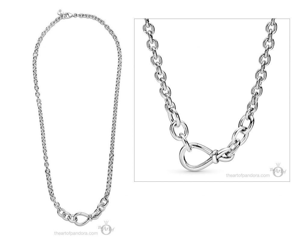 398902C00 Pandora Chunky Infinity Knot Chain Necklace