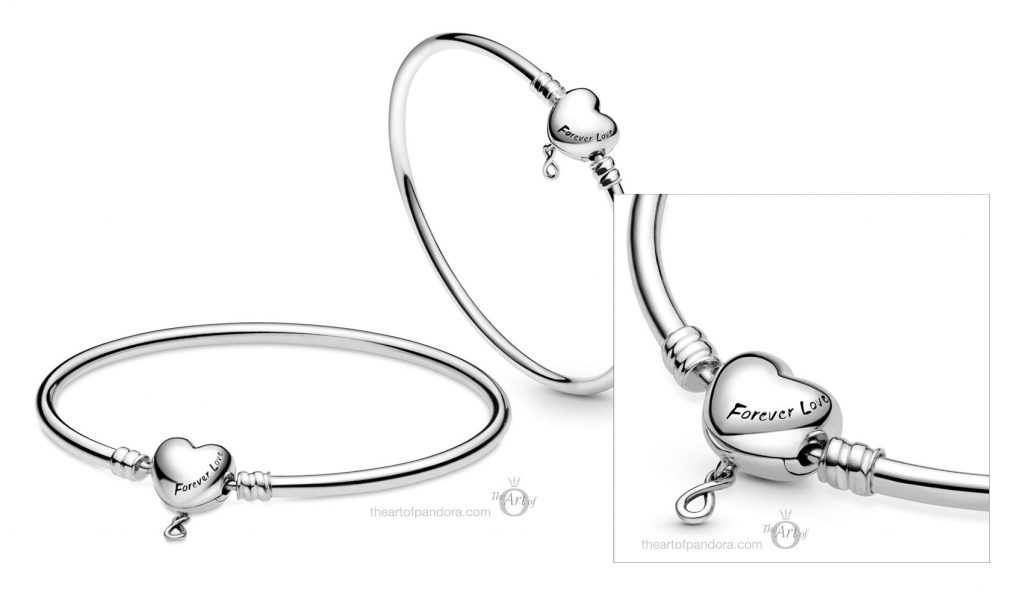 598891C00 Pandora moments infinity heart clasp bangle