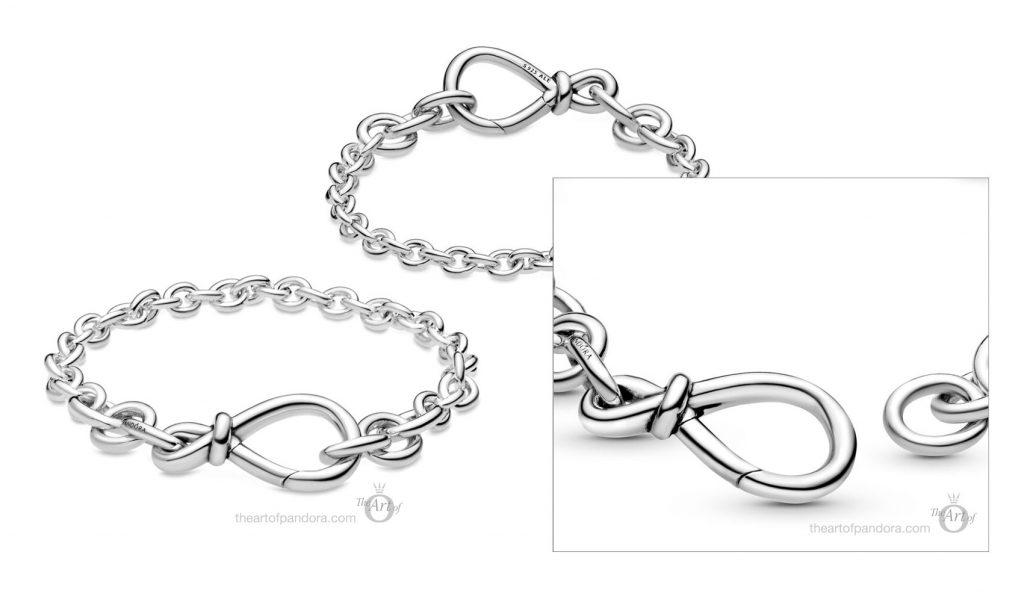 598911C00 Pandora Chunky Infinity Knot Chain Bracelet