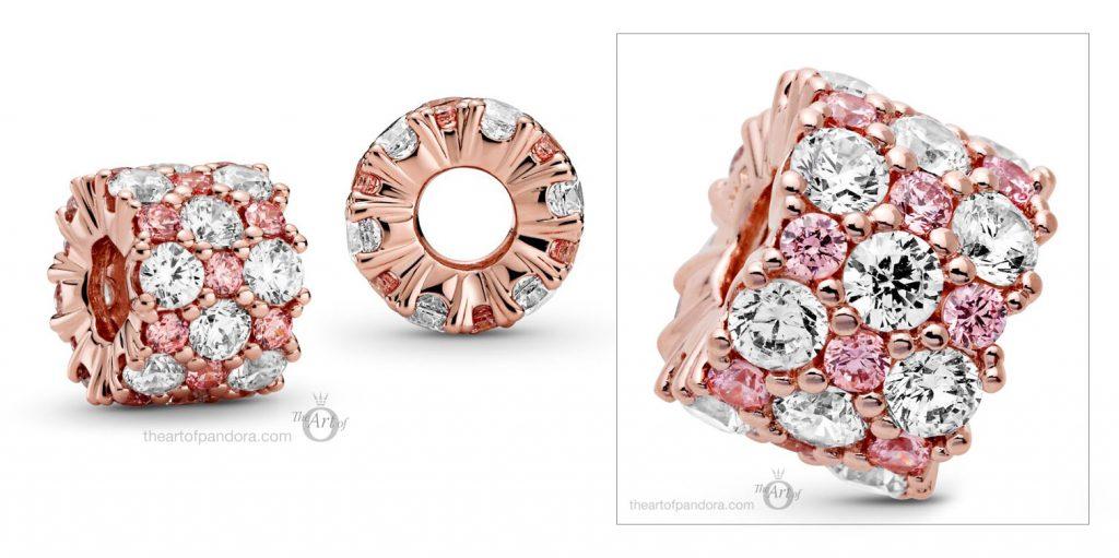 788487C01 Pandora Pink & Clear Sparkle Charm