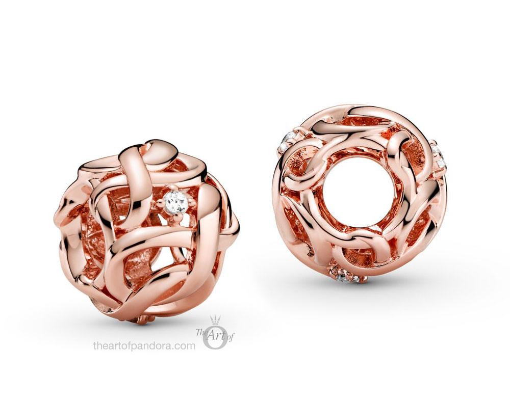788824C01 Pandora Rose Openwork Woven Infinity Charm