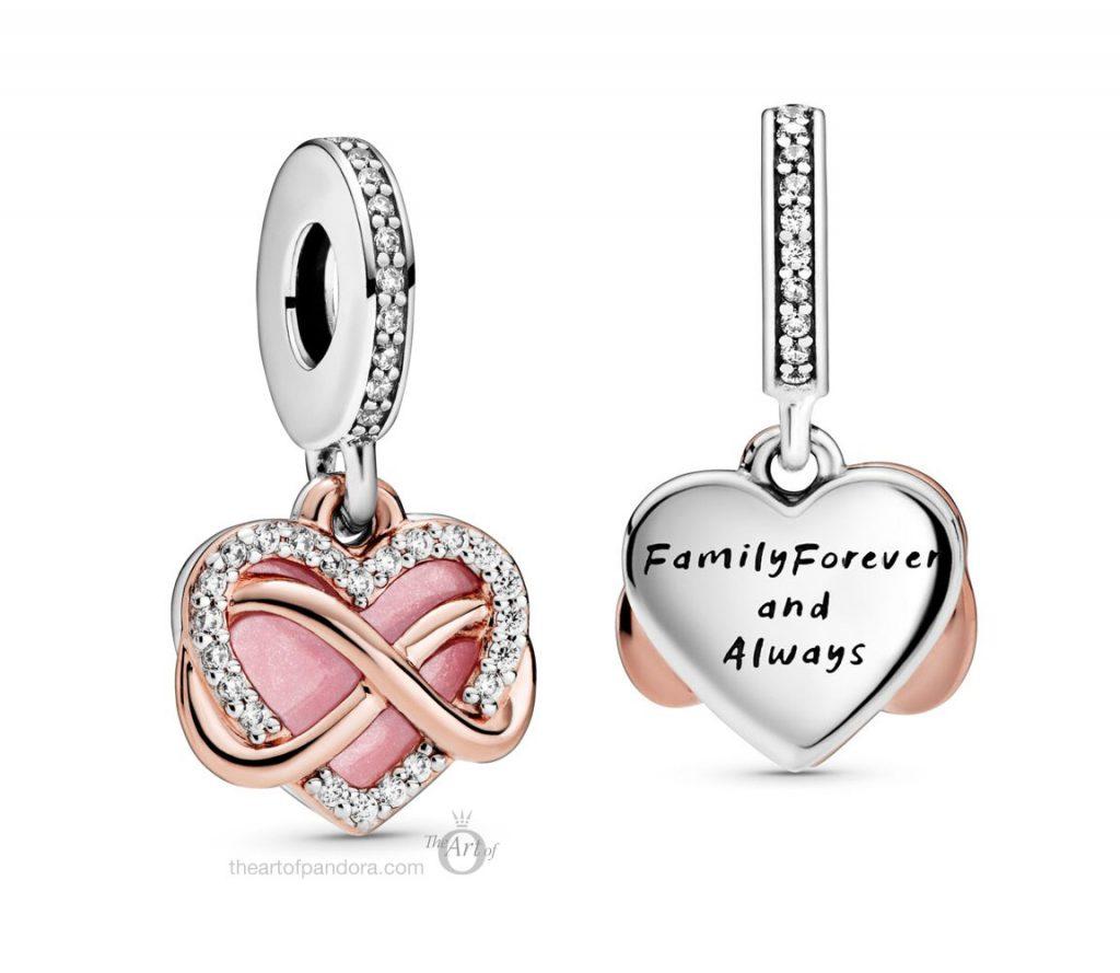 788878C01 Pandora Sparkling Infinity Heart Dangle Charm