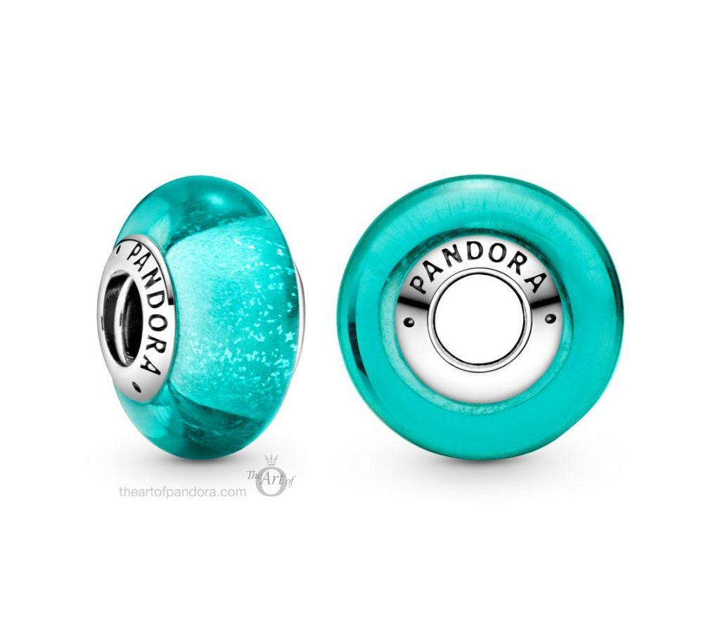 Pandora Glittering Teal Murano Glass Charm (798837C00)