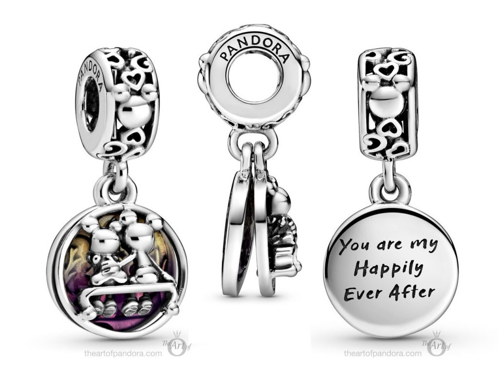Pandora Disney Mickey Mouse & Minnie Mouse Happily Ever After Dangle Charm (798866C01)
