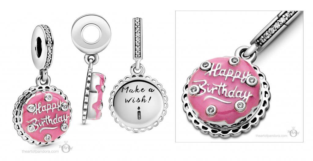 798888C01 Pandora Pink Birthday Cake Dangle Charm