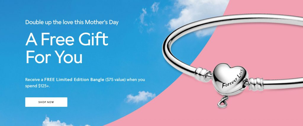pandora mothers day 2020 free bangle gwp