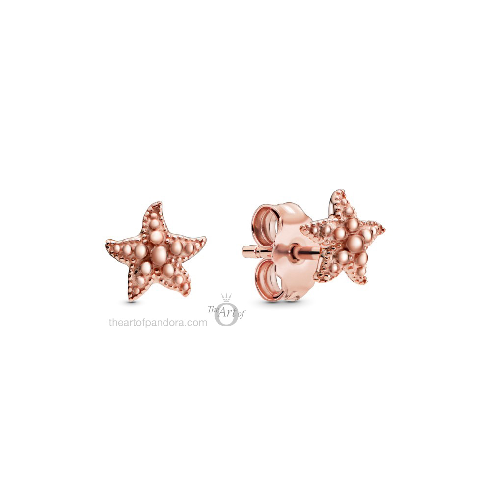 288956C00 Pandora Rose Beaded Starfish Earrings summer 2020 collection